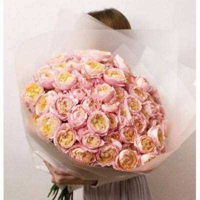 Кустовые пионовидные розы Джульетта