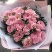 19 розовых лютиков